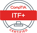compTIA ITF+ certified badge